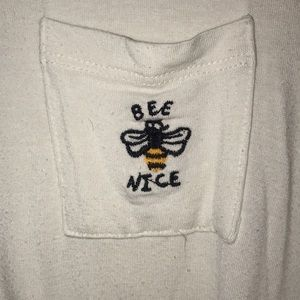 Embroidered Bee Nice Pocket Tee